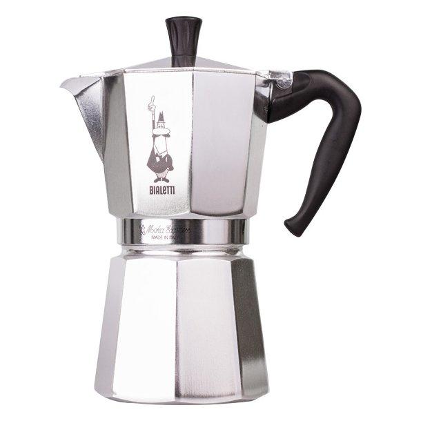 Bialetti Moka Express 9 kopper, espressokande