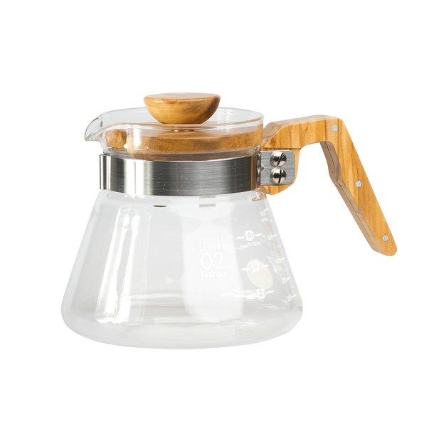 Hario Coffee Server Glaskande 600ml Oliven