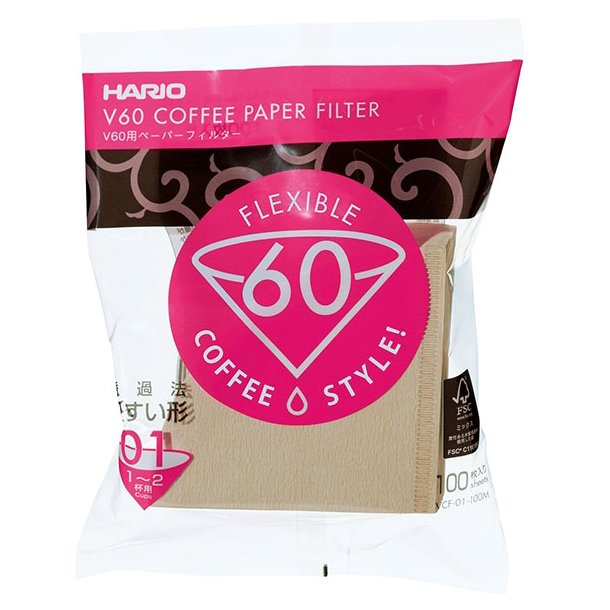 Hario V60 Papir Filter 1 kop 100 stk