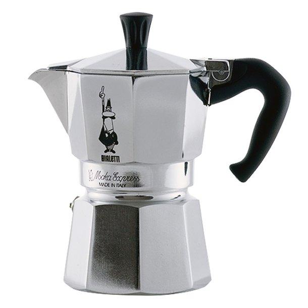 Bialetti Moka Express 3 kopper, espressokande