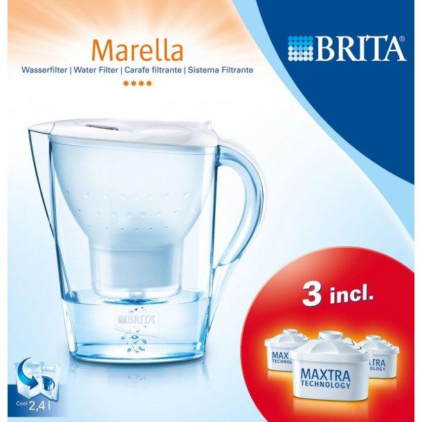 brita marella cool hvid 3 brita maxtra plus filtre vandfilterkander absolut kaffe. Black Bedroom Furniture Sets. Home Design Ideas